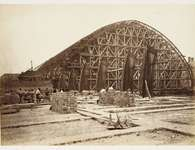 Construction of St Pancras Station roof