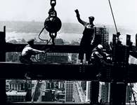 Laying a beam, Empire State Building, New York