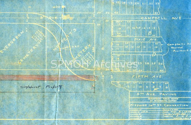 Evergreen & Moffett's Cemeteries Map