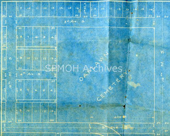 Oaklawn Cemetery Map