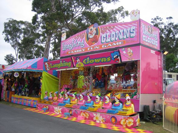 Laughing clowns, Gold Coast Show, 2012
