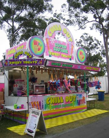 Slushy stand at the Coast Show, 2012