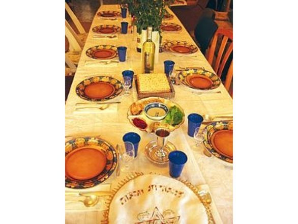 Table at for Seder