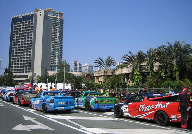 Cars at the Gold Coast 600 , Surfers Paradise 2012