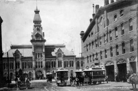 Denver's Union Depot and Streetcar stables