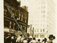 Fire at corner of Fifth and Main Street, 1912