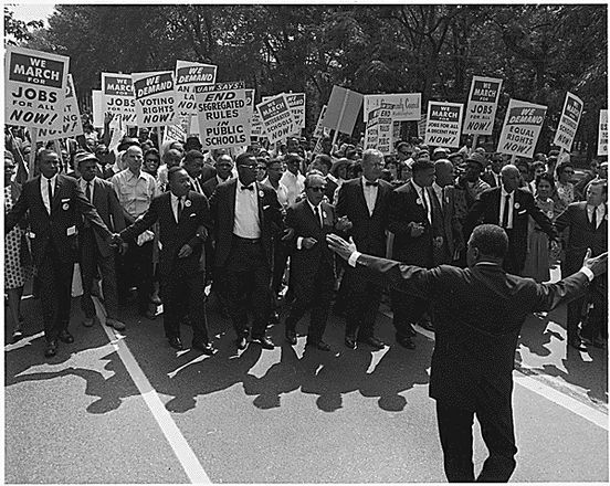 Leaders at the Head of the March on Washington