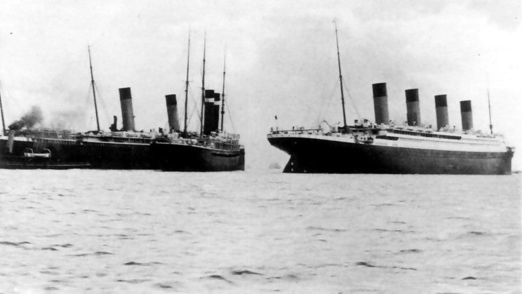 RMS Titanic and SS New York