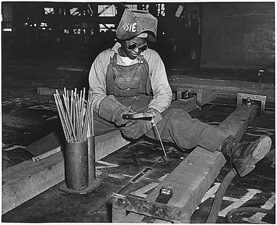 African American Woman At Kaiser Shipyards