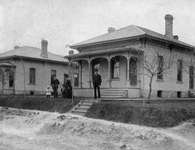 C. A. Ahrens & family, first home on Courtland Ave