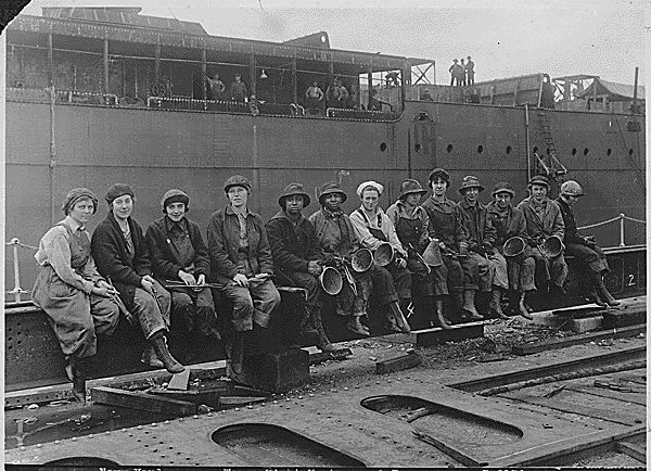 Women Riveters in Puget Sound Navy yard