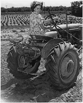 Mrs. William Wood Managing 100 Acre Farm