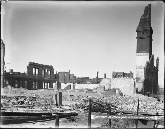 Sutter & Polk Powerhouse after the Fire | U00786