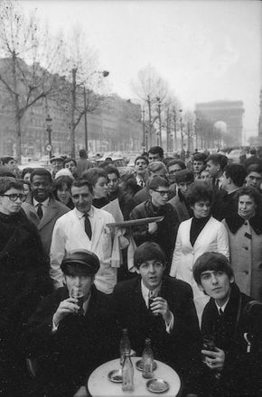 The Beatles in a Parisian Cafe